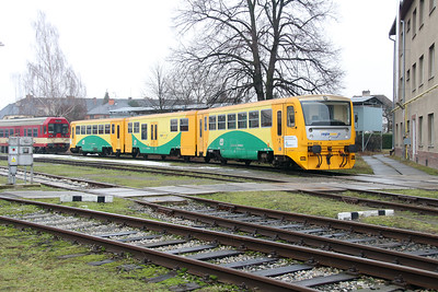 814 252 (95 54 5814 252-3 CZ-CD) at Sumperk Depot on 6th February 2016