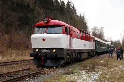 T478 1001 (90 54 3751 001-9 CZ-CD) at Mala Moravka on 7th February 2016 working Railtour (29)