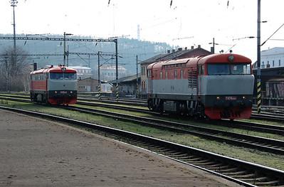 T478 1004 & T478 1008 at Prague Vrsovice on 5th February 2016