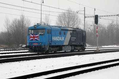 AHD, 749 262 (92 54 2749 262-2 CZ-AHD) at Zatec on 4th February 2017 working NFP Railtour (13)