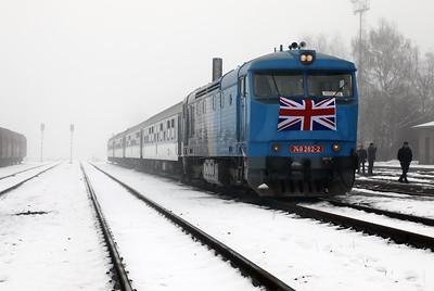 AHD, 749 262 (92 54 2749 262-2 CZ-AHD) at Louny on 4th February 2017 working NFP Railtour (2)