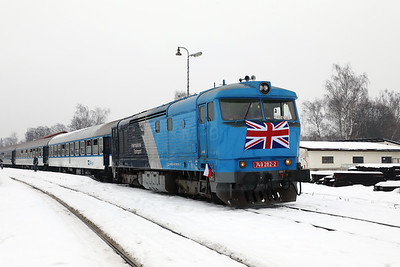 AHD, 749 262 (92 54 2749 262-2 CZ-AHD) at Ceska Lipa Hlavni Nadrazi on 4th February 2017 working NFP Railtour  (1)