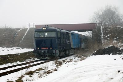 AHD, 749 262 (92 54 2749 262-2 CZ-AHD) at Chrášťany on 4th February 2017 working NFP Railtour (2)