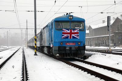 AHD, 749 262 (92 54 2749 262-2 CZ-AHD) at Zatec on 4th February 2017 working NFP Railtour (3)