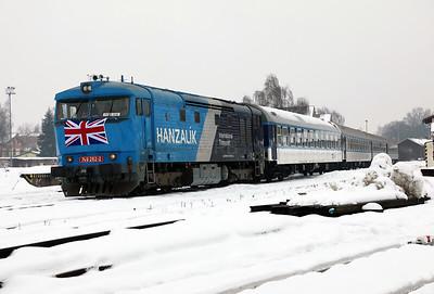 AHD, 749 262 (92 54 2749 262-2 CZ-AHD) at Ceska Lipa Hlavni Nadrazi on 4th February 2017 working NFP Railtour  (11)