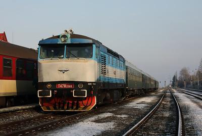KZC, T478 2065 (90 54 3749 259-8 CZ-KZC) at Horna Stubna on 5th February 2018 working Grumpy Railtour (1)