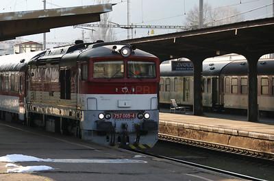 757 005 at Zvolen Osobna Stanica on 5th February 2018 (1)