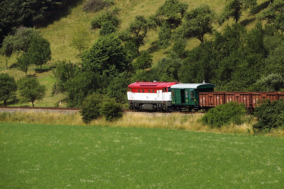 T478 1001 (90 54 3751 001-9 CZ-CD) near Bylnice on 9th July 2017 working Grumpy Railtour (6)