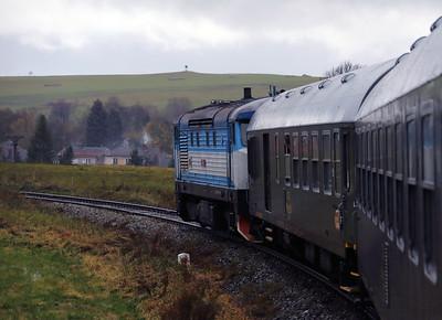 KZC, T478 2065 (90 54 3749 259-8 CZ-KZC) at 8 6km on 29th October 2017 working Grumpy Railtours charter train (2)