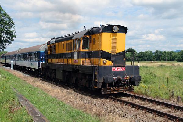 """NFP Railtour : Czech Rep  """"The Bumblebee  - June 2016"""