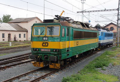 163 083 (91 54 7163 083-9 CZ-CD) at Olomouc Depot on 21st June 2016 (1)