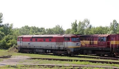 751 027 (92 56 1751 027-4 SK-ZSSKC) at Trencianska Tepla Depot on 23rd June 2016