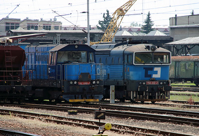 742 048 & 750 222 at Hradec Kralove Hlavni Nadrazi on 24th June 2016