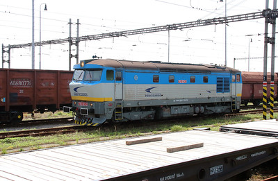 ZSSK, 752 023 (92 56 1752 023-2 SK-ZSSKC) at Matovce on 22nd June 2016 working NFP Railtour  (2)
