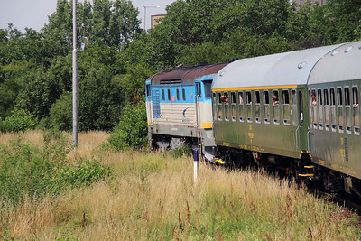 ZSSK, 752 023 (92 56 1752 023-2 SK-ZSSKC) outside Michalovce on 22nd June 2016 working NFP Railtour (5)
