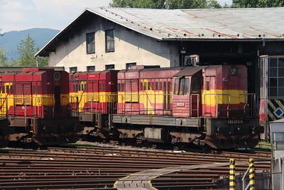 742 373 (92 56 1742 373-4 SK-ZSSKC) at Trencianska Tepla Depot on 23rd June 2016 (2)