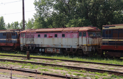 751 058 (92 56 1751 058-9 SK-ZSSKC) at Trencianska Tepla Depot on 23rd June 2016 (1)