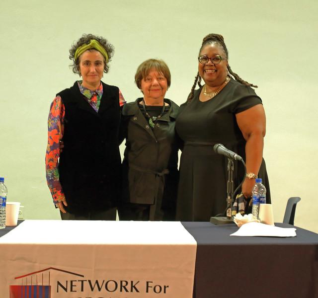L to R:  Barbara Olshansky, Rhoda Schermer, Lorna Hines-Cunningham
