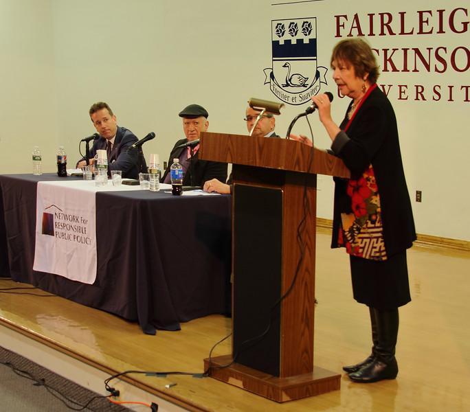 Rhoda Schermer, President NFRPP, making opening announcements