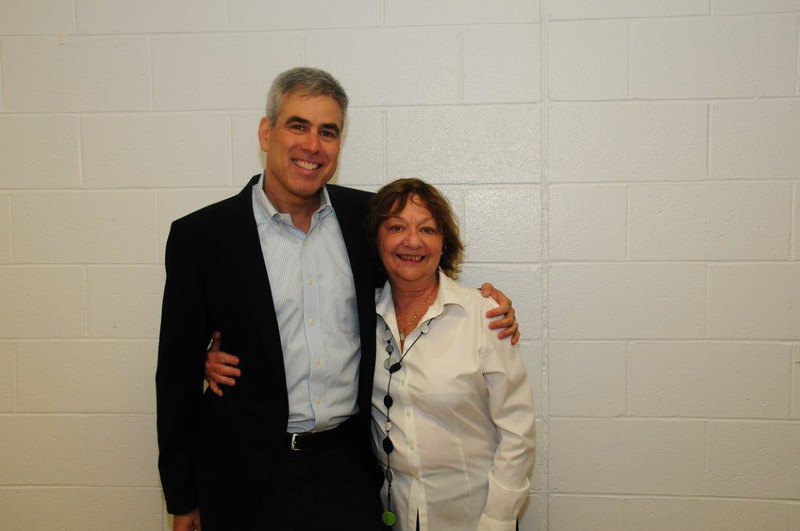 Speaker Prof. Jonathan Haidt with NJPPN Chairperson, Rhoda Schermer