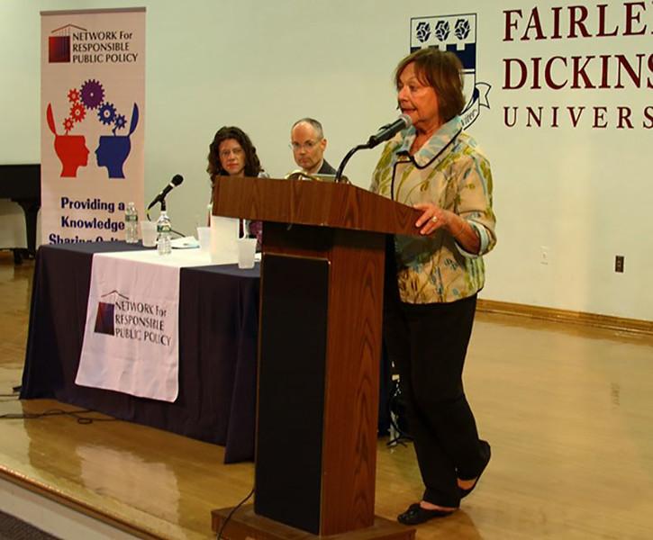 Rhoda Schermer, Chair NFRPP, making opening remarks