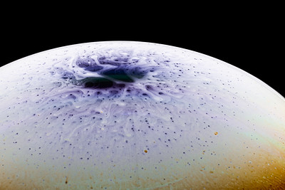 Evaporating Pole of Soap Bubble