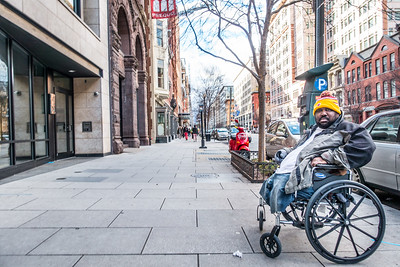 Homeless Man in Wheelchair