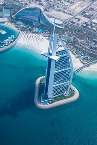 burj al arab with sail hotel from air DSC_0098