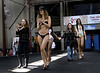 Models wear 2012 Spring-Summer creations of Amendoeiras at Fundicao Progresso, Rio de Janeiro, Brazil, August 5, 2011. (Austral Foto/Renzo Gostoli)