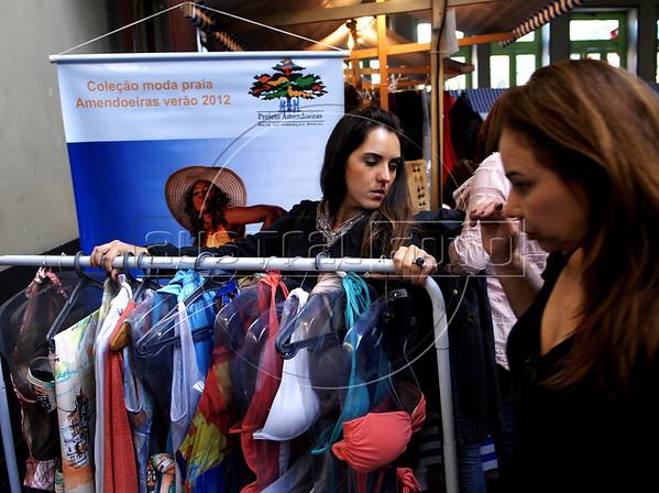 Amendoeiras project presents creations of 2012 Spring-Summer collection at Fundicao Progresso, Rio de Janeiro, Brazil, August 5, 2011. (Austral Foto/Renzo Gostoli)