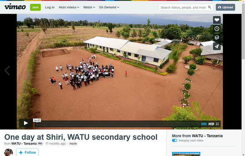 For higher quality, uncompressed films about the NGO WATU in Tanzania, please visit :    https://vimeo.com/watu