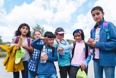 First day at school for kids at KRNJAČA refugee camp in Belgrade, Serbia.