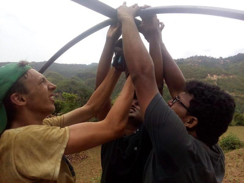 VSSN volunteers participating in rebuilding efforts