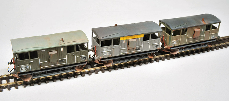 Built from the N Gauge Society Kit  - the kit uses a Peco brake van underframe which requires a small section removing from the middle before fitting under the kit - A great looking simple kit - well recomended. photography by Tony Wright.
