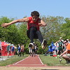 Melvindale's Devin Spears finished third in the long jump at Saturday's inaugural Metro Classic at Wyandotte Roosevelt with a distance of 20 feet and 4.5 inches. (MIPrepZone Photo Gallery by Frank Wladyslawski)