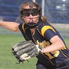 Shelby Kersten makes a play for Trenton on Wednesday against visiting Allen Park. The Trojans went on to suffer a 10-0 defeat against the Jaguars. (MiPrepZone photo gallery by Terry Jacoby)
