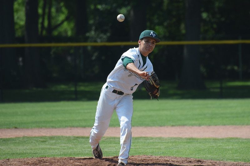 Allen Park starting pitcher David Villareal went the distance on Saturday against Saline. Villareal and the Jaguars gave the No. 1-ranked Hornets a battle but ultimately suffered a 5-0 defeat in the Division 1, Region 4 semifinals at Dearborn Edsel Ford. (MIPrepZone Photo Gallery by Frank Wladyslawski)