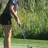 Hannah Mason putts for the Marauders. Carlson hosted the Marauder Golf Invitational at Lake Erie Metropark on Tuesday, Aug. 23, 2016. MiPrepZone photo gallery by Terry Jacoby