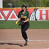Flat Rock pitcher Sarah Kopp allowed only run in 6.2 innings of work on  Wednesday at New Boston Huron.  However, the run broke a scoreless tie in the bottom of the seventh and the Chiefs handed the Rams a 1-0 defeat. (MIPrepZone Photo Gallery by Frank Wladyslawski)