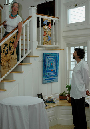Jeffrey Cooper did all of the carved railing panels at Cathy's.