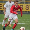 Christian Drzyzga heads up field for the Red Devils. Grosse Ile scored a 5-0 win over host Riverview on Oct. 12, 2016. (MiPrepZone photo gallery by Terry Jacoby)