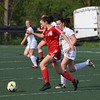 Grosse Ile midfielder Lauren Naso (14) notched herself a hat trick on Friday and was one of 10 Red Devils to pot goals against Romulus Summit Academy in the 12-0 victory in the district championship game. (MIPrepZone Photo Gallery by Alex Muller)
