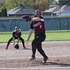 Riverview Gabriel Richard starter Chelsea Collins surrendered just four hits and punched out 11 batters in a 2-1 loss on Tuesday at Allen Park Cabrini. Richard bounced back with a 14-10 win in the second game. (MIPrepZone Photo Gallery by Alex Muller)
