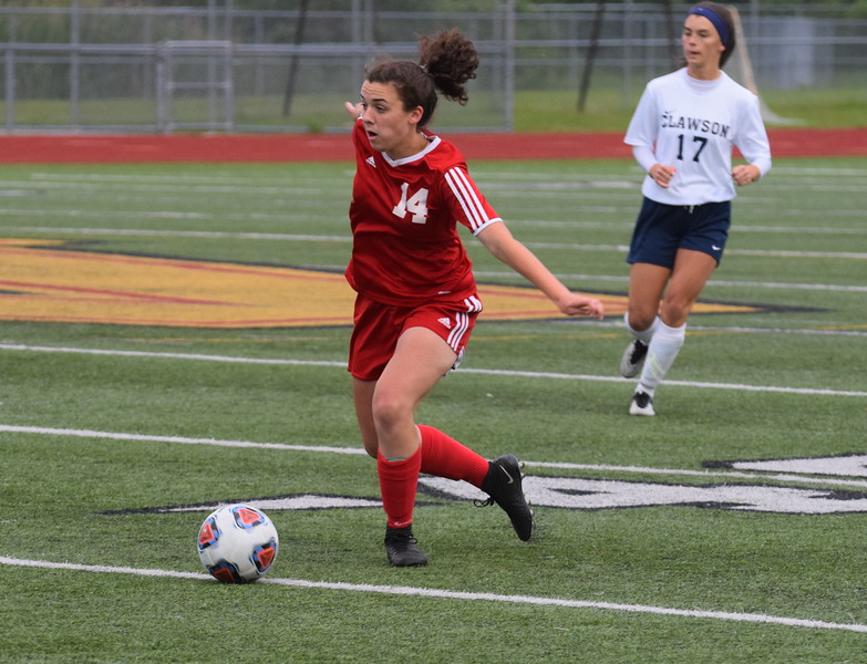 The Grosse Ile Red Devils defeated the Clawson Trojans 3-1 in the MHSAA D3 Regional semi-final played on Tuesday June 6, 2017 at Troy Athens HS.  (MIPrepZone Photo Gallery by Frank Wladyslawski)