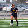 Trenton's Angela Davis scored the game's first goal on Wednesday night at Woodhaven. The Trojans went on to earn a 3-1 victory over the Warriors in a key Downriver League battle. (MIPrepZone Photo Gallery by Frank Wladyslawski)