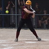 Riverview's Makenna Millhorn had four RBIs and was the winning pitcher in her team's 8-4 victory over Trenton in Saturday's Division 2, District 56 semifinals. The Pirates then beat Grosse Ile 6-0 for the championship. (MIPrepZone Photo Gallery by Frank Wladyslawski)