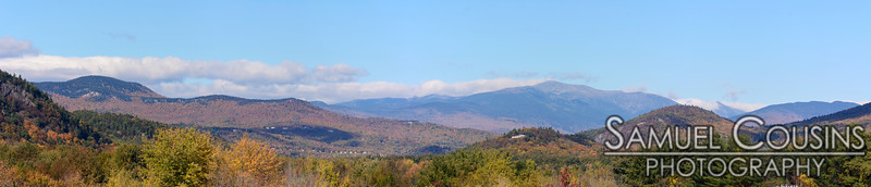View of Mount Washington and the surrounding area from North Conway.