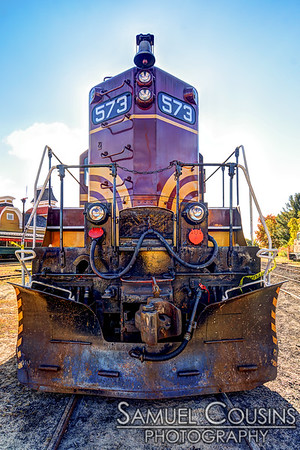 An engine at the Conway Scenic Railroad