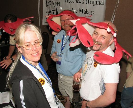 Ya' just gotta love those crab hats.