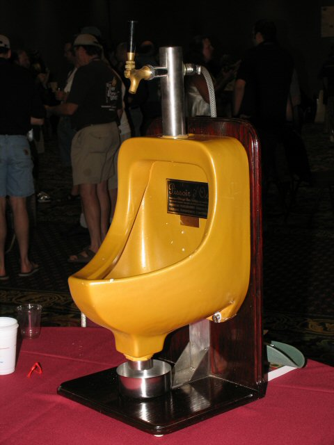 The Pissoir D'Or, making it's second appearance. This lovely item goes to the club that brings the most kegs of beer. Very popular with brewers spouses;-)